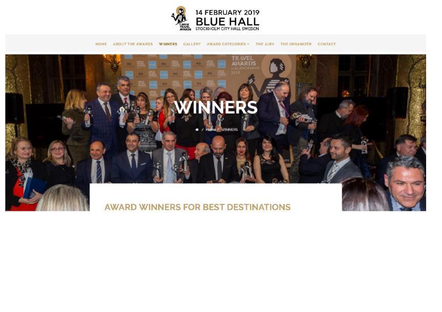 """Greek Travel Awards inScandinavia"""