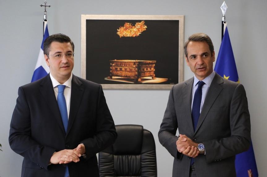 Συνάντηση του Περιφερειάρχη Κεντρικής Μακεδονίας Απόστολου Τζιτζικώστα με τον Πρωθυπουργό ΚυριάκοΜητσοτάκη