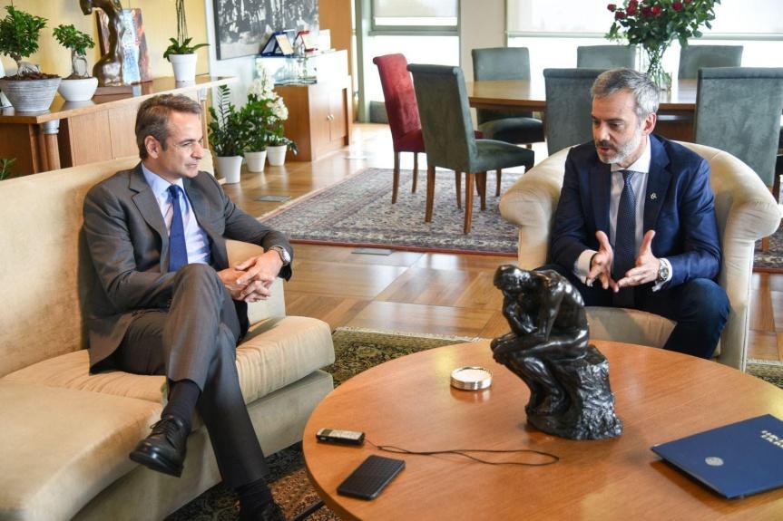 Επίσκεψη του Πρωθυπουργού της Ελλάδας Κ. Μητσοτάκη και συνάντηση με τον Δήμαρχο Θεσσαλονίκης Κ. Ζέρβα στοΔημαρχείο