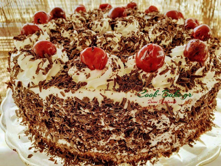 Μπλακ Φόρεστ τούρτα γρήγορη, εύκολη καιτεμπέλικη