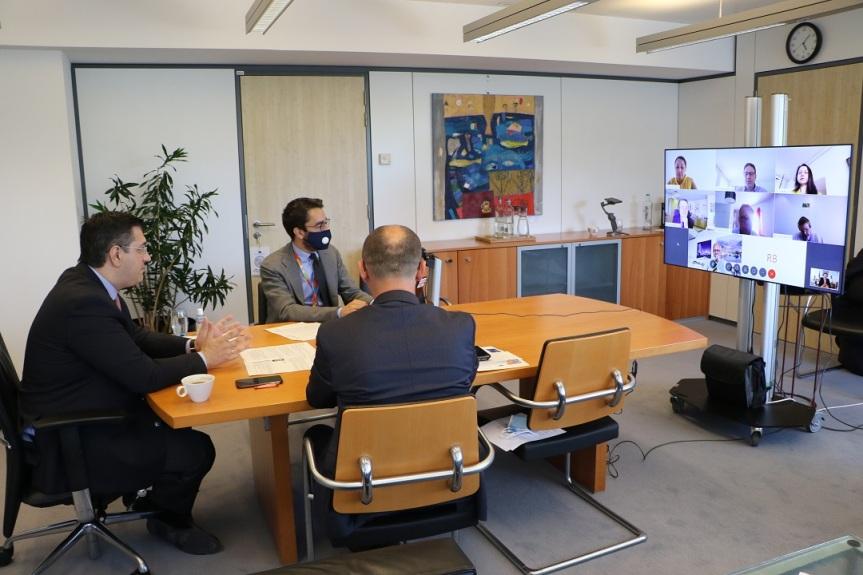 Συνάντηση εργασίας του Προέδρου της Ευρωπαϊκής Επιτροπής των Περιφερειών Α. Τζιτζικώστα με τον Πρόεδρο και την Αντιπρόεδρο της  Ευρωπαϊκής ΤράπεζαςΕπενδύσεων