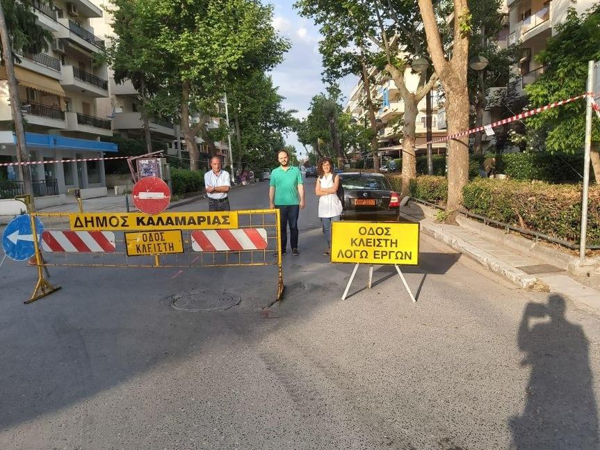 Εργασίες ασφαλτόστρωσης στην οδόΣοφούλη