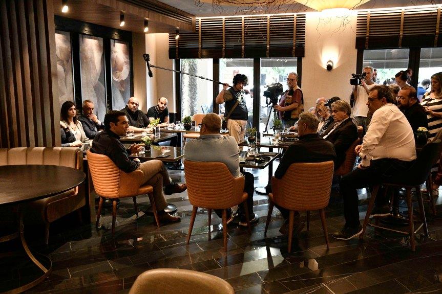 Συνάντηση της «Πρωτοβουλίας Εστίασης Θεσσαλονίκης» με τον Πρόεδρο του ΣΥΡΙΖΑ ΑλέξηΤσίπρα