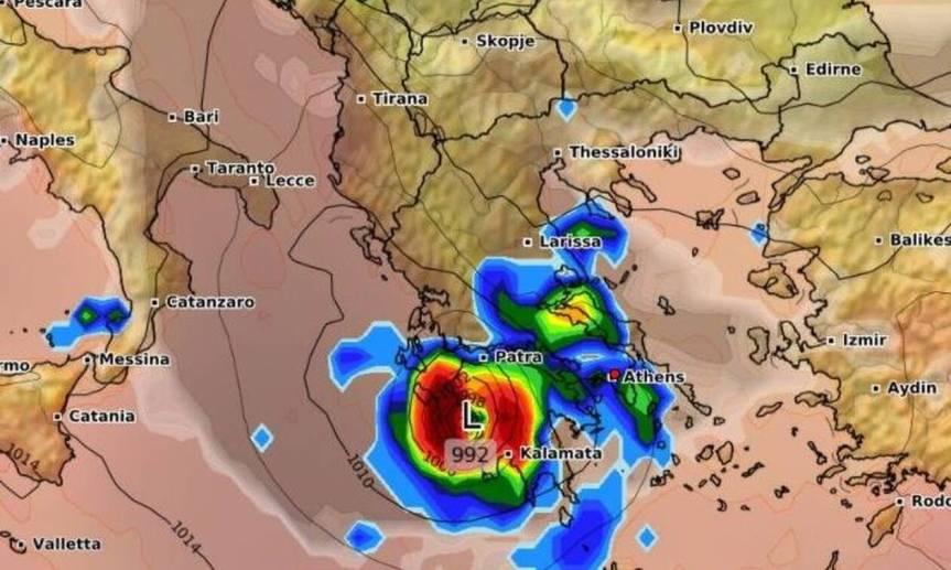 Αυτές τις περιοχές θα «χτυπήσει» ο μεσογειακός κυκλώνας –ΙΑΝΟΣ